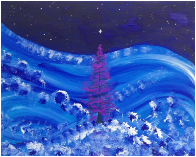 Painting by Luke McEwen, festive wishes 2015