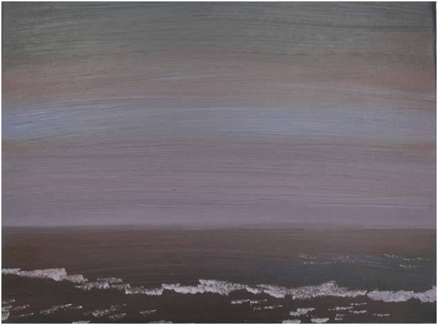 Painted by Luke McEwen The Sea at Night