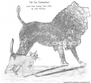No. 5 - Lion in the Cat - The Cat Competition - West Dean Summer Fete 1935 by Luke McEwen