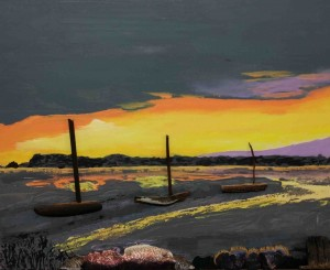 A Dry Poole harbour from The Shells and Driftwood Retasked collection by Luke McEwen