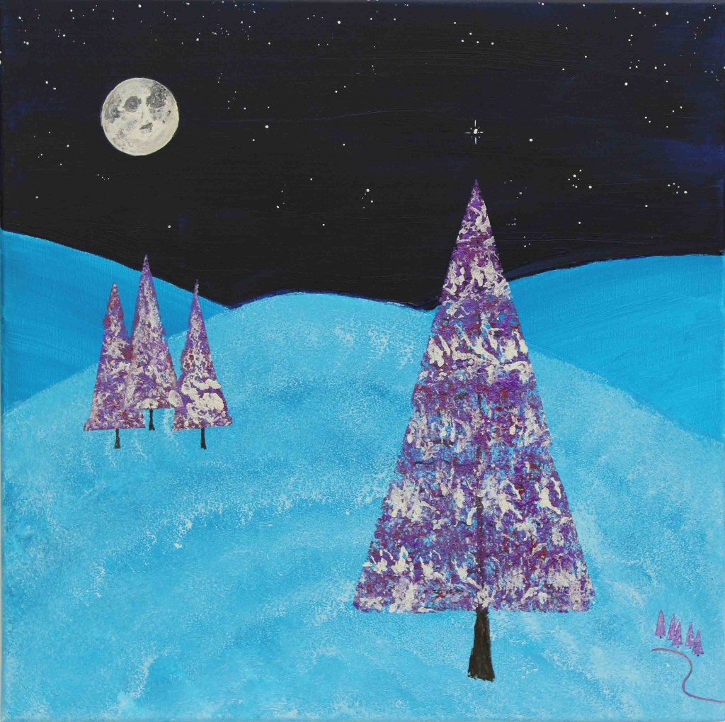 A Blue Chirstmas – Acrylic on Canvas – by Luke McEwen