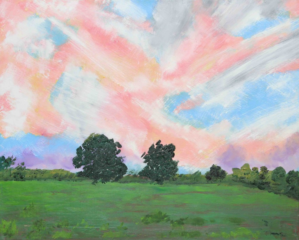 Sunset above Halnaker – Oil on Canvas – by Luke McEwen