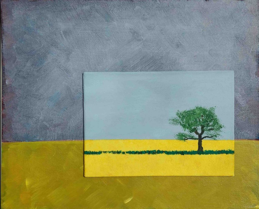 Standing alone – Acrylic on Canvas – by Luke McEwen
