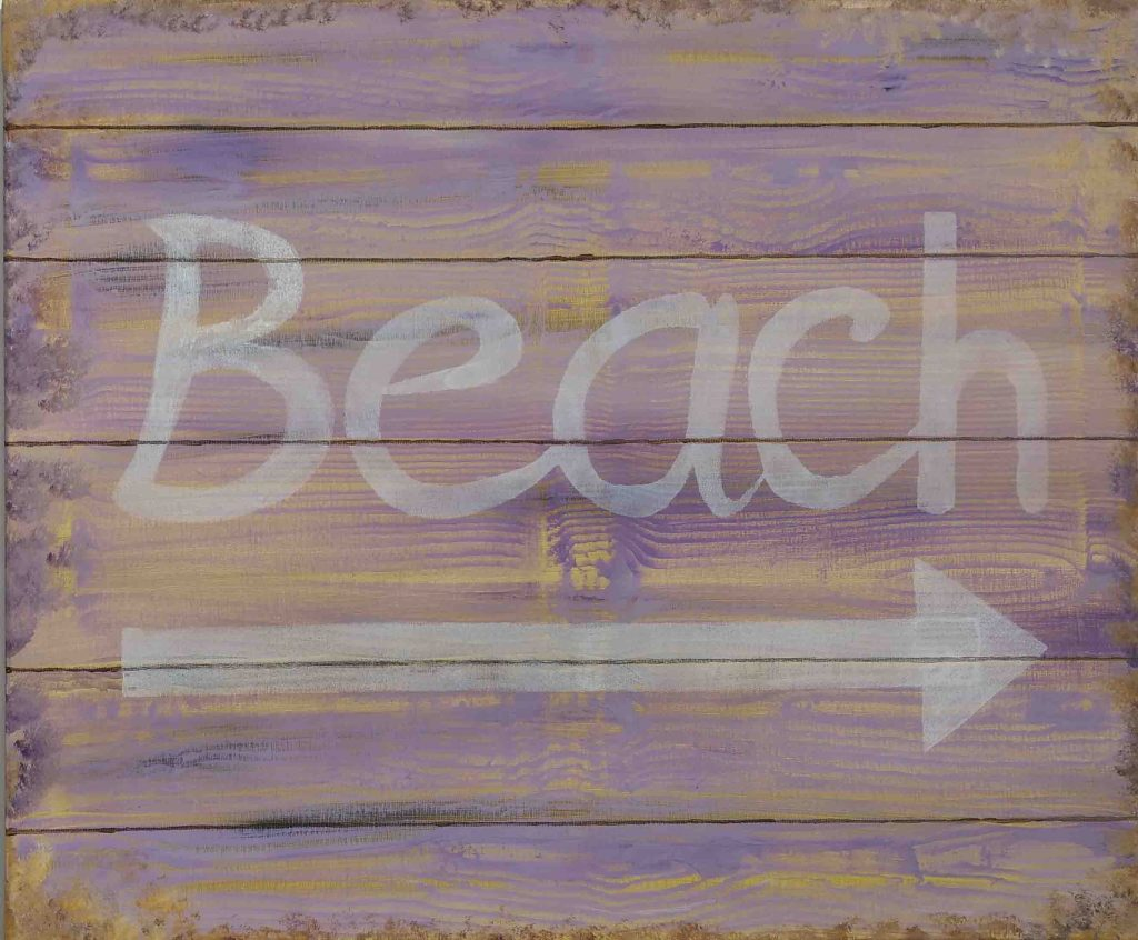 The Beach is This Way – Acrylic on Canvas – by Luke McEwen