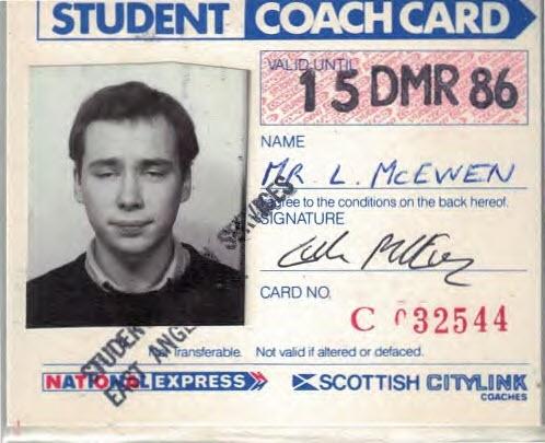 Lukes Student Card 1986